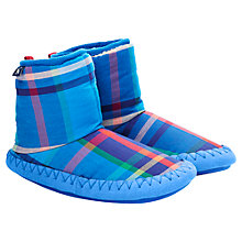 Buy Little Joule Tartan Slipper Boots, Skylight Blue/Multi Online at johnlewis.com