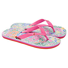 Buy Little Joule Children's Ditsy Floral Flip Flops, Multi Online at johnlewis.com