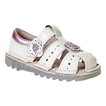 Buy Kickers Children's Floral Applique Sandals, Silver/Pink Online at johnlewis.com