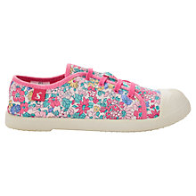 Buy Little Joule Bright Purple Ditsy Canvas Trainers Online at johnlewis.com