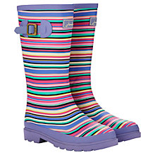Buy Little Joule Girls' Stripe Wellingtons, Lilac/Multi Online at johnlewis.com