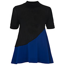 Buy French Connection Polly Colour Block Top, Black/Monarch Blue Online at johnlewis.com