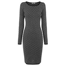 Buy Oasis Geometric Sparkle Tube Dress, Black Online at johnlewis.com
