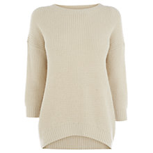 Buy Warehouse Simple Soft Slouch Jumper, White Online at johnlewis.com