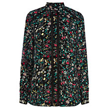 Buy Warehouse Mini Bird Print Shirt, Multi Online at johnlewis.com