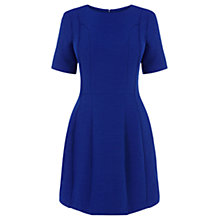 Buy Oasis Oriental Jacquard Dress, Mid Blue Online at johnlewis.com