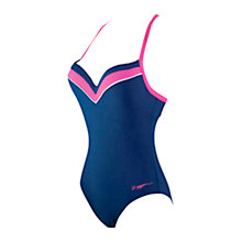 Buy Zoggs Tarcoola Boost Swimsuit, Navy/Pink Online at johnlewis.com