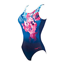 Buy Zoggs Summer Bloom Scoopback Swimsuit, Navy/Pink Online at johnlewis.com