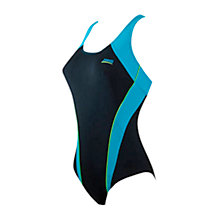 Buy Zoggs Freshwater Flexback Swimsuit, Black/Blue Online at johnlewis.com