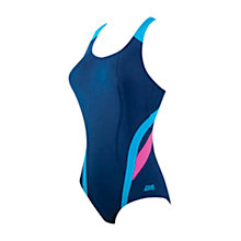 Buy Zoggs Brisbane X-Back Swimsuit, Navy/Pink Online at johnlewis.com