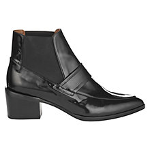 Buy Whistles Riley Leather Block Heel Ankle Boots Online at johnlewis.com