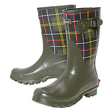 Buy Barbour Short Classic Wellington Boot, Tartan Online at johnlewis.com