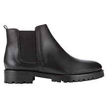 Buy Whistles Hoya Leather Chelsea Ankle Boots, Black Online at johnlewis.com