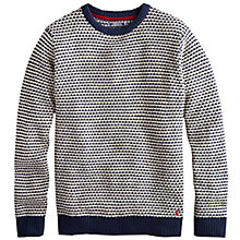 Buy Joules Heachem Birdseye Jumper, Blue Online at johnlewis.com