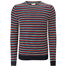Buy Bellerose Monti Cotton Long Sleeved Jumper, Multi Red Online at johnlewis.com