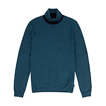 Buy Ted Baker Roxton Roll Neck Jumper, Teal Online at johnlewis.com