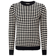 Buy Bellerose Monti Cotton Long Sleeved Jumper, Black/White Online at johnlewis.com