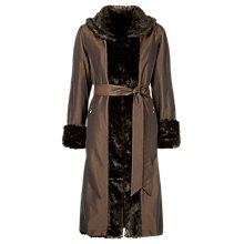 Buy Jacques Vert Long Reversible Mac, Chocolate Online at johnlewis.com