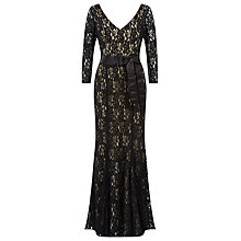 Buy Jacques Vert Belted Lace Maxi Dress, Multi Black Online at johnlewis.com