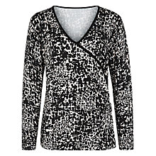 Buy Kaliko Animal Print Jumper, Multi Black Online at johnlewis.com