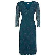 Buy Kaliko Beaded Dress, Emerald Online at johnlewis.com