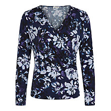 Buy Kaliko Floral Print Jersey Top, Multi Blue Online at johnlewis.com