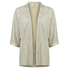 Buy Oasis Crinkle Foil Kimono, Gold Online at johnlewis.com