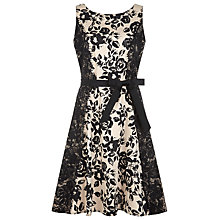 Buy Kaliko Lace Panel Printed Prom Dress, Multi Black Online at johnlewis.com