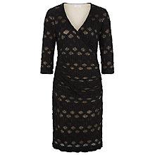 Buy Kaliko Spot Textured Lace Dress, Black Online at johnlewis.com