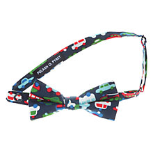 Buy Polarn O. Pyret Car Print Bow Tie, Blue/Multi Online at johnlewis.com