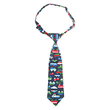 Buy Polarn O. Pyret Car Print Boys' Tie, Blue Online at johnlewis.com