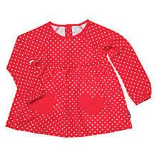 Buy Polarn O. Pyret Girls' Spot Tunic Top, Red Online at johnlewis.com