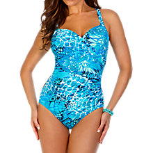 Buy Miraclesuit Sanibel Swimsuit, Turquoise Online at johnlewis.com