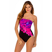Buy Miraclesuit Avanti Swimsuit, Black / Pink Online at johnlewis.com