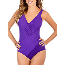 Buy Miraclesuit Oceanus Shaping Swimsuit, Purple Online at johnlewis.com