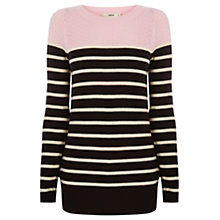 Buy Oasis Striped Colour Block Top Online at johnlewis.com