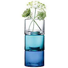 Buy LSA International Stack Vase Trio, Clear and Blue Online at johnlewis.com