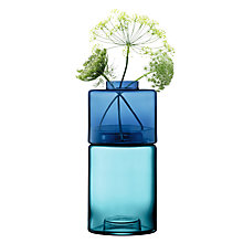 Buy LSA International Stack Glass Vases, Blue Online at johnlewis.com