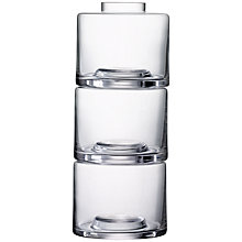 Buy LSA International Stack Vase, Clear Online at johnlewis.com