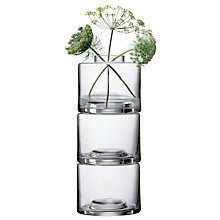 Buy LSA International Stack Glass Vases, Clear Online at johnlewis.com