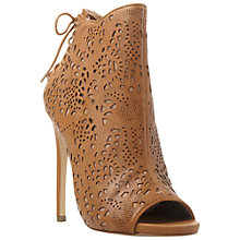 Buy Steve Madden Korsett Leather Cut Out Detail Shoe Boots Online at johnlewis.com