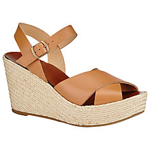Buy Collection WEEKEND by John Lewis Nancy Leather Wedge Sandals, Tan Online at johnlewis.com