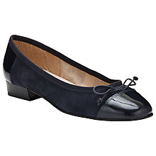 Buy John Lewis Ariel Block Heel Suede Pumps, Navy Online at johnlewis.com