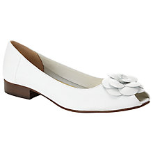Buy John Lewis Dolly Flower Open Toe Leather Pumps Online at johnlewis.com
