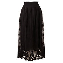 Buy East Mesh Lace Skirt, Black Online at johnlewis.com