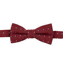 Buy John Lewis Spotted Bow Tie, Red Online at johnlewis.com