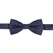 Buy John Lewis Micro Print Silk Bow Tie, Navy Online at johnlewis.com