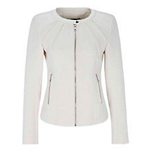 Buy Oui Anel Trim Jacket, Cream Online at johnlewis.com