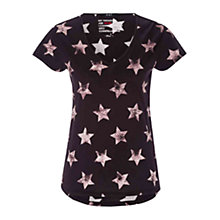 Buy Oui Star Print T-shirt, Black Online at johnlewis.com