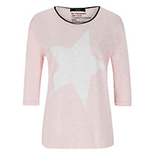 Buy Oui Star Print T-shirt, Pink Online at johnlewis.com
